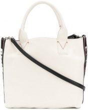 Pinko - Borsa tote con logo - women - Cotton/Polyurethane/Polyester - One Size - WHITE