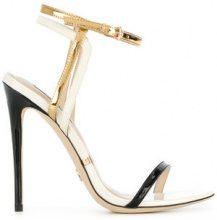 Gianni Renzi - metallic open-toe sandals - women - Patent Leather/Leather - 35, 36.5, 37, 38, 38.5, 41 - WHITE