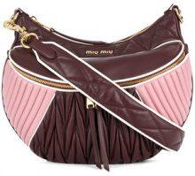 Miu Miu - Borsa a spalla 'Rider' - women - Calf Leather - One Size - PINK & PURPLE