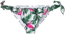 Mc2 Saint Barth - Slip bikini stampati - women - Polyamide/Spandex/Elastane - L - GREEN