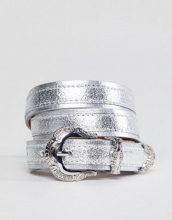 Pieces - Cintura stile western con dettagli in metallo - Argento