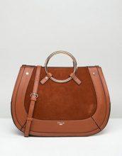 Dune - Maxi borsa color cuoio con manico rotondo in metallo sulla parte superiore - Cuoio