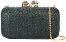 Kayu - woven clutch bag - women - Straw - OS - GREEN