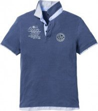 Polo regular fit (Blu) - bpc selection