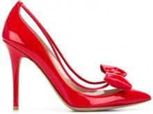 Valentino - Pumps 'Dollybow' Valentino Garavani - women - Leather - 38, 38.5, 39, 39.5, 40 - RED