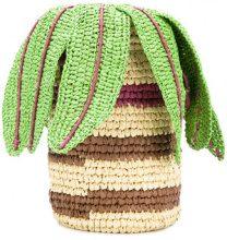 Tsumori Chisato - Borsa a secchiello - women - Straw - One Size - Verde