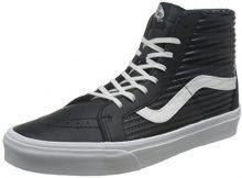 Vans Sk8-Hi Reissue, Scarpe Running Donna, Nero (Black/Blanc de Blancmoto Leather), 40.5 EU