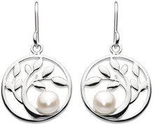 Dew Donna  925  argento Rotonda Rotonda perla cinesa da coltivazione bianco sporco Perla