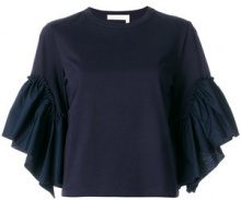 See By Chloé - Camicia - women - Cotton - M, XS, S - BLUE