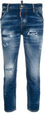 Dsquared2 - Jeans cropped 'Cool Girl' - women - Polyester/Cotton/Spandex/Elastane/Calf Leather - 38, 40, 42, 44, 36, 46 - BLUE