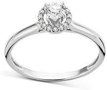 Diamada Anello da Donna in Oro Bianco 9K con Diamante, Misura 14
