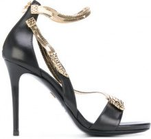 Roberto Cavalli - Sandali con serpente in metallo - women - Leather/metal - 38, 39, 39.5, 40 - BLACK