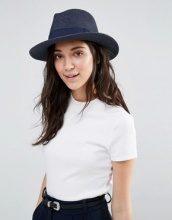Liquorish - Cappello trilby in paglia con nastro