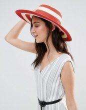 Liquorish - Cappello floscio in paglia a righe