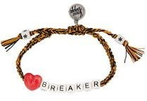 Venessa Arizaga - braccialetto 'Heart Breaker' - women - Cotton/ceramic - OS - YELLOW & ORANGE
