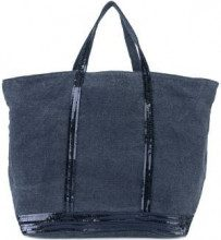 Vanessa Bruno - sequin trim tote bag - women - Cotton - OS - BLUE