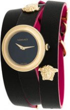 Versace - Orologio - women - Leather/Vetro Zaffiro/stainless steel - OS - BLACK