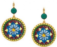 Dolce & Gabbana - Orecchini 'Majolica' - women - Polyurethane/Crystal/Brass - OS - METALLIC