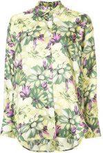 MSGM - floral print blouse - women - Silk - 40 - GREEN