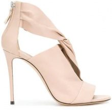 Casadei - Pumps con punta aperta - women - Nappa Leather/Kid Leather/Leather - 35, 36, 37, 37.5, 38.5, 39.5, 40, 40.5, 41 - NUDE & NEUTRALS