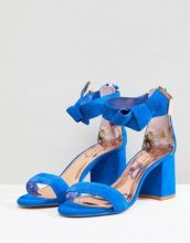 Ted Baker - Kerrias - Sandali blu cobalto scamosciato con tacco largo - Blu