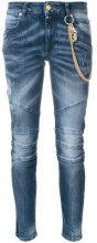 Pierre Balmain - Jeans con catena - women - Cotton/Spandex/Elastane - 25, 26, 28 - BLUE