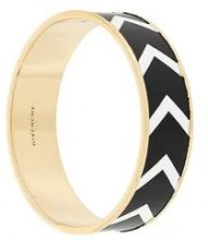 Givenchy - chevron pattern bracelet - women - Resin - S - Nero