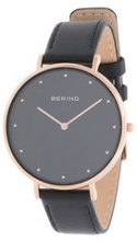 Bering - Orologio 'Classic' - women - Leather/acer saccharinum (sugar maple) extract/Bos Taurus - OS - BLACK