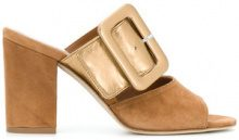 Paris Texas - Mules con punta aperta - women - Leather/Suede - 35.5, 36, 36.5, 37.5, 39, 41, 37, 38, 40 - Marrone