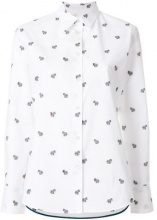 Ps By Paul Smith - embroidered zebra shirt - women - Cotton/Viscose - 38, 40, 42, 44 - WHITE