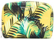 - Sonia Rykiel - palm print makeup bag - women - Polyester/Calf Leather - OS - Giallo & arancio