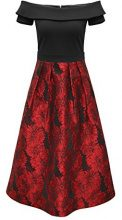 APART Fashion Glamour: the Power of RED-Black, Vestito Donna, Mehrfarbig (Schwarz-Rot), 44