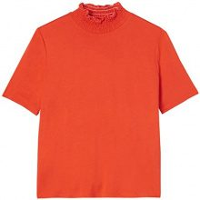 FIND T-Shirt a Collo Alto Donna, Arancione (Orange), 46 (Taglia Produttore: Large)