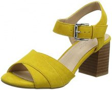New Look Palet, Scarpe Col Tacco Punta Aperta Donna, Yellow (Dark Yellow 87), 37 EU