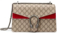 Gucci - Dionysus GG Supreme shoulder bag - women - Canvas/Suede/metal - One Size - NUDE & NEUTRALS