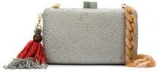 Serpui - straw clutch - women - Straw - OS - GREY