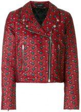 Isabel Marant - Giacca biker 'Heaton' - women - Cotton/Polyamide/Polyester/Cupro - 38, 40, 42 - RED
