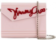 Jimmy Choo - Clutch Candy - women - Plexiglass/Goat Skin/Brass - One Size - PINK & PURPLE