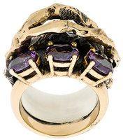 Voodoo Jewels - Anello con cristalli - women - metal/glass - 48, 48.7, 49.3 - METALLIC