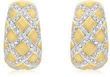 Adara-Collana in oro giallo 9 kt, diamante Orecchini in Lattice