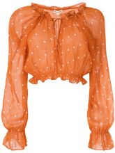 For Love And Lemons - Blusa a pois - women - Rayon - M - YELLOW & ORANGE