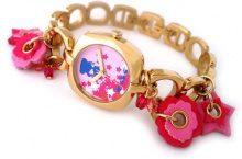 Teddy Smith 3070832-Orologio da donna con cinturino in metallo dorato e ciondoli