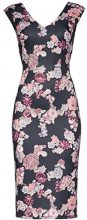 FIND Floral Bodycon Gonna Donna, Nero (Black Mix), 46 (Taglia Produttore: Large)