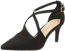 New Look Wide Foot Swirly, Scarpe Col Tacco Punta Chiusa Donna, Black (Black 1), 38 EU