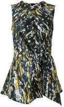 Marni - Haze print knot detail blouse - women - Silk - 42 - BLUE