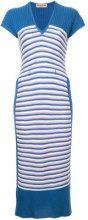 Issey Miyake Vintage - Vestito a strisce - women - Cotton/Polyester - OS - BLUE