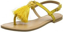 New Look Wide Foot Hippy, Sandali Punta Aperta Donna, Yellow (Dark Yellow 87), 39 EU