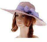 Thenice Cappello da donna a tesa larga Protezione Sole Cap Paglia