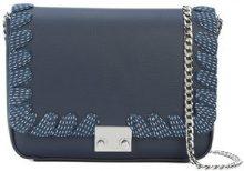 Loeffler Randall - lace-up trim shoulder bag - women - Leather - OS - BLUE