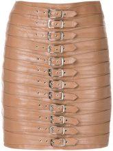 Manokhi - Gonna 'Dita' - women - Leather/Polyester/Viscose - 34, 36, 38, 40 - NUDE & NEUTRALS
